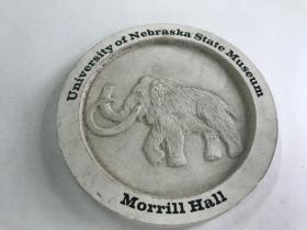 大象图案圆形摆件 UNIVERSITY OF NEBRASKA STATR MUSEUM  MORRILL HALL 内布拉斯加大学州立博物馆莫里尔大厅