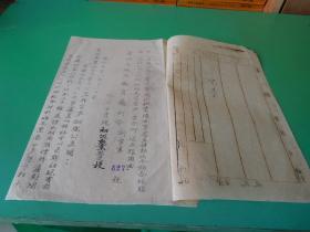 贵州省政府教育厅训令  训字第527号 收文字第955号  事由  准农村合作委员会函以处贵阳办事处呈请转函令等等。 实物拍照  品如图