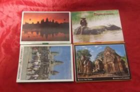 柬埔寨明信片【四套共计35张】