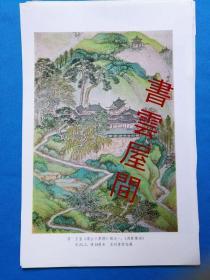 非常少见珍 精 美文物图片(13)清 王鉴《虞山十景图》册之一《西城楼阁25.5x18》
