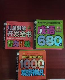 名牌小学入学准备全方案6本+聪明儿童智力测试1000题4本+儿童潜能开发全书4本 共14本合售