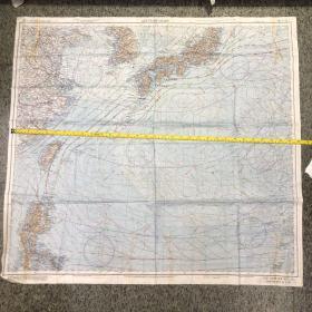 布地图双面图1945年,非常有研究价值