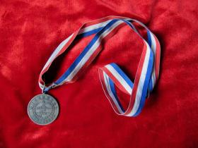 80年代海* 某部游泳比赛奖牌.铜镀银