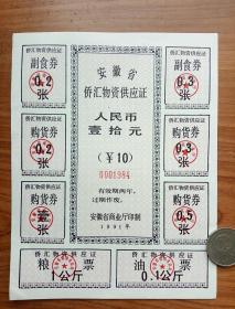 安徽省侨汇券