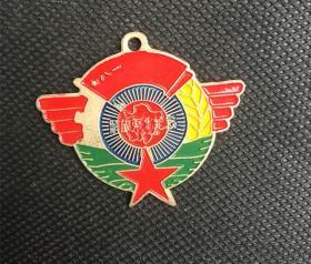 JZ1148白铜勋章 解放东北记念章