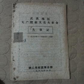 武汉地区无产阶级文化大革命大事记 (一九六六年十一月份至十二月份)