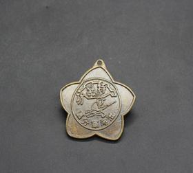 JZ1154红色收藏仿古勋章纪念章特等功勋章纪念章