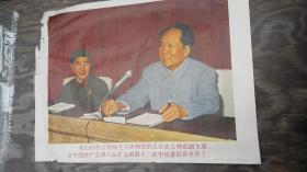 文革宣传画   毛林   (8)保真  尺寸38.5cm 53cm