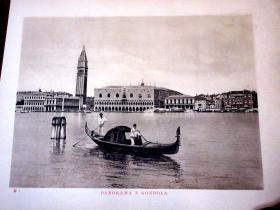 1912年版/铜版印刷《威尼斯36景》