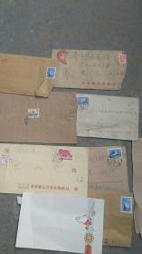 文革邮票..70年代未邮票用过的邮票信封8张合售【如图】