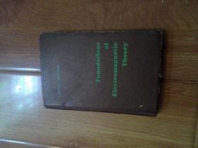 英文版  FOUNDATIONS OF ELECTROMAGNETIC THEORY ( 电磁理论的基础) 自然旧扉页有名字封面封底四角有磨损