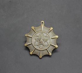 JZ1159收藏红色收藏仿古勋章纪念章