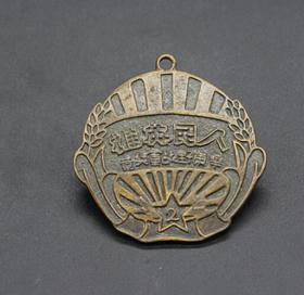JZ1168红色收藏仿古勋章纪念章人民功臣纪念章