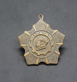 JZ1170红色收藏仿古纪念章勋章毛主席纪念章铜勋章
