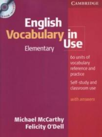 English Vocabulary In Use Elementary Book And Cd-rom