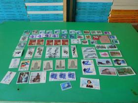 邮票  信销票 和新票67张合售  品如图  邮册1