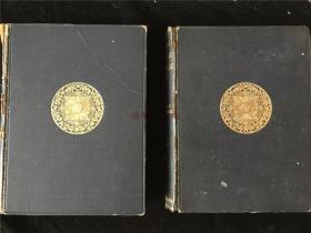 1921年英文原版毛边本《EPOCHS OF CHINESE AND JAPANESE》(中国与日本的艺术史纪元)精装2册全,书中有不少珂罗版文人书画佛像雕塑插图。