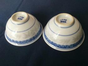 正宗文革瓷,文革彩绘瓷碗一对,保真保老包文革正品瓷碗,景德镇人民瓷厂制作——3380