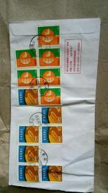 信封一个【上有13张邮票】
