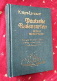 Deutsche Redensurten-und was dahinter stecht德语成语及其典故【德文版32开精装】
