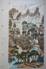 有白石风味!山水作品16平尺左右地方画家的真品。山水古松画得很有气势.真迹,纯手绘,精品画,