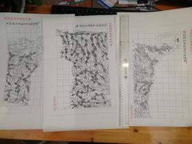 沂州府沂水县自治区域图甲乙丙3张【该地最早的按比例尺绘制的地图】