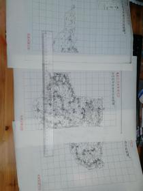 沂州府日照县自治区域图甲乙丙3张【该地最早的按比例尺绘制的地图】