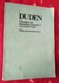 Übungen zur deutschen Sprache I Grammatische Übungen杜登德语练习 1《语法练习》德文版32开
