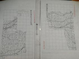 曹州府曹县自治区域图甲乙2张【该地最早的按比例尺绘制的地图】