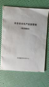 冶金安全生产应急管理(培训教材)