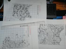 沂州府莒州县自治区域图甲乙丙3张【该地最早的按比例尺绘制的地图】