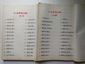 毛笔手绘太极拳图 文革精抄本 绘图摹自杨禹廷亲演拳式 二册全