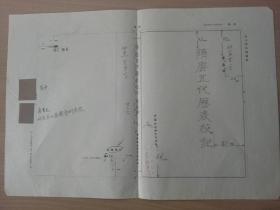 荣孟源著《隋唐五代历表校记》一书装帧设计等出板资料一组、收赵普题字等