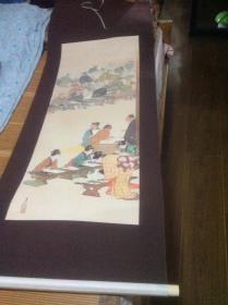 买满就送 画轴五幅,来自日本,内容和儿童教育有关
