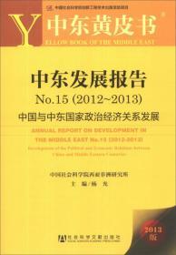 中东黄皮书·中东发展报告No.15(2012-2013):中国与中东国家政治经济关系发展
