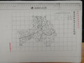 东昌府聊城县自治区域图【该地最早的按比例尺绘制的地图】