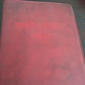 带主席像红皮笔记本(已写)