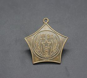 JZ1180红色收藏仿古勋章纪念章红星章