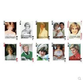 【全新扑克牌】《英国英格兰玫瑰——戴安娜王妃》珍藏版扑克牌