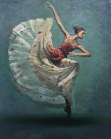 《当空舞》布面油画