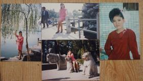 美女彩色照片一组4枚高12.5厘米宽9厘米