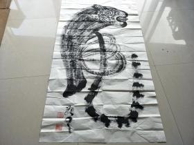 乡下收的一副老虎画