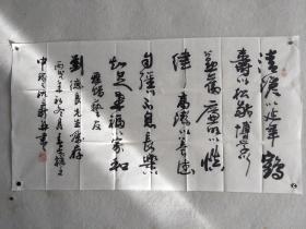 著名书法家、江西新余市书协副主席 沈立新 2006年书法作品一幅(纸本软片;约4.6平尺;钤印:沈立新印等)