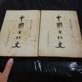 民国36年新一版《中国文化史》上下册全 除自然黄点 品相都好 。好难得