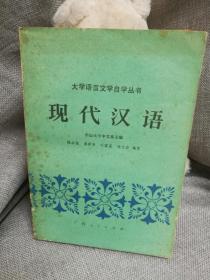 大学语言文学自学丛书现代汉语