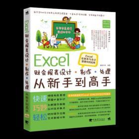 Excel财会报表设计、制作、处理从新手到高手——Excel在财务与会计管理中的应用