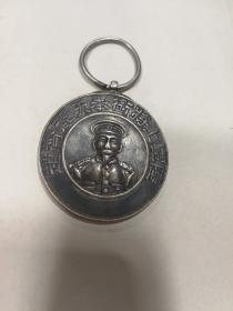 老银质奖章-----陆军上将衔奉天赵都督、人像褒功章(绝对保真!)