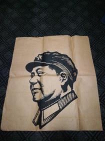 文革宣传画:毛主席头像(手绘)82cm*74cm