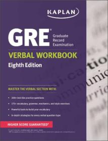 GRE Verbal Workbook (Kaplan Gre Verbal Workbook)