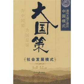 通向大国之路的中国模式:社会发展模式